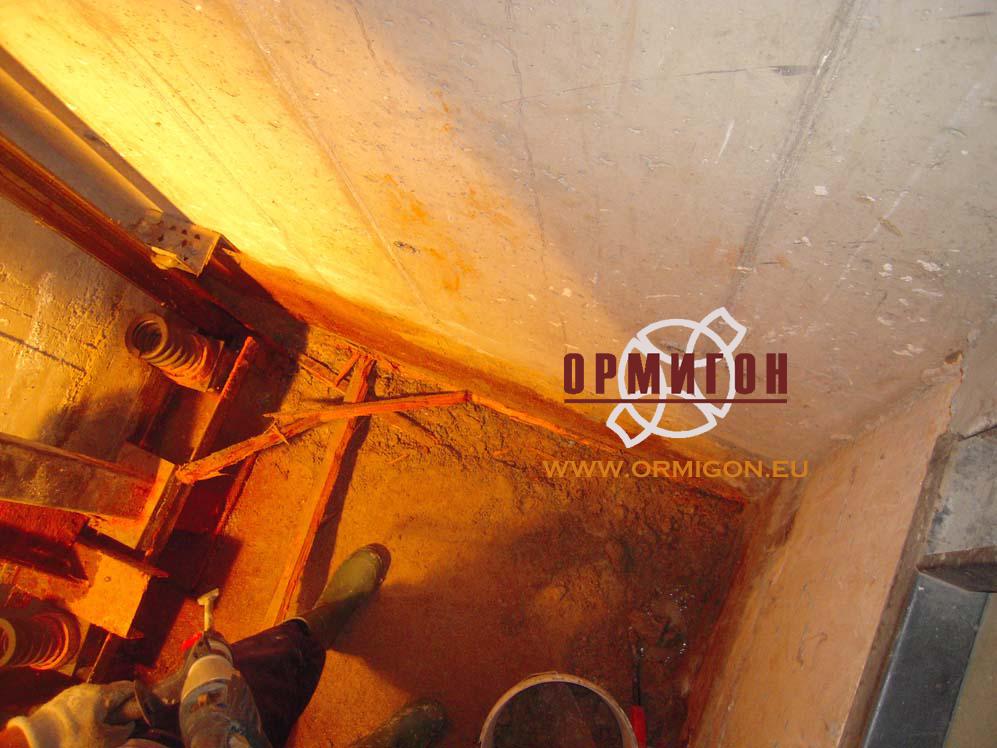 Подготовка на асансьорната шахта за изолиране